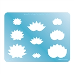 Jewelry Shape Template - Lotus