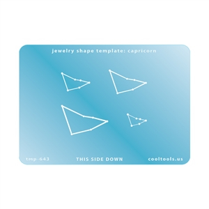 Jewelry Shape Template - Capricorn