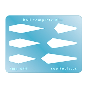 Jewelry Shape Template - Mini Bail Template #10