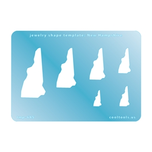 Jewelry Shape Template - New Hampshire