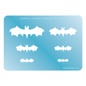 Jewelry Shape Template - Bat 2