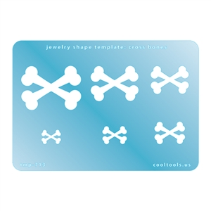 Jewelry Shape Template - Cross Bones