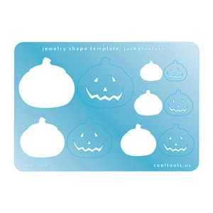 Jewelry Shape Template - Jack-o-Lantern 2
