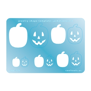 Jewelry Shape Template - Jack-o-Lantern 4