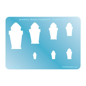 Jewelry Shape Template - Tombstone