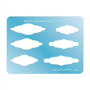 Jewelry Shape Template - Mini Bail Template #15