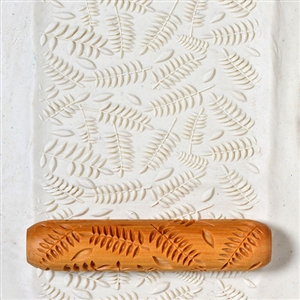 Large Wooden Hand Roller - Ferns