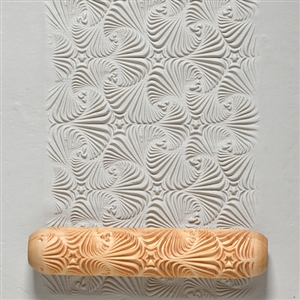 Large Wooden Hand Roller - Star Swirl