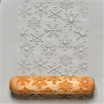 Large Wooden Hand Roller - Snowflakes