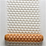 Large Wooden Hand Roller - Honeycomb