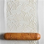 Large Wooden Hand Roller - Jungle Foliage