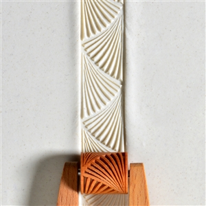 Wooden Mini Roller - Deco ZigZag 20mm