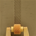 Large Wooden Mini Roller - Right Slanted Lines