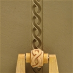Large Wooden Mini Roller - Twisted Ropes