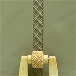 Large Wooden Mini Roller - Basketweave 3