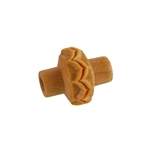 Wooden Mini Roller - Feathered Lines 5mm