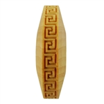 Wooden Finger Roller - Greek Key Square 8mm