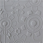Texture Tile - Electric Gears Embossed