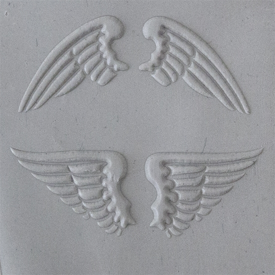 4 X 2 Natural Wings Embossed Cool Tools Flexible Texture Tile