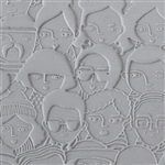 Texture Tile - A Face in the Crowd Embossed