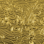 Textured Metal - Floral Waterfall - Brass 24 gauge