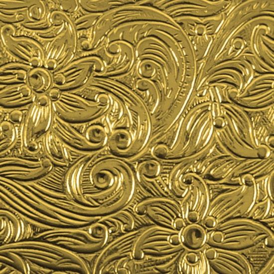 Floral Waterfall Textured Sheet Metal Brass Sheet Cool