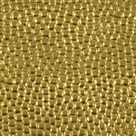 Textured Metal - Polka Dots - Brass 24 gauge
