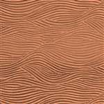 Textured Metal - Waves - Copper 24 gauge