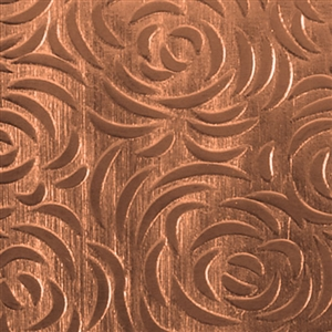 Textured Metal - Bed of Roses - Copper