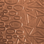 Textured Metal - Geometry Jam - Copper 24 gauge