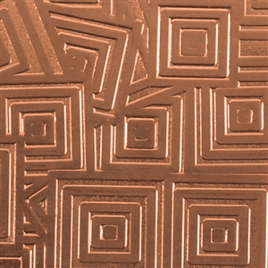 Textured Metal - Square Upon Square - Copper