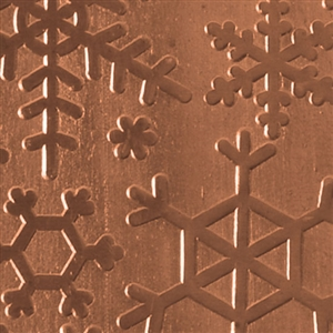 Textured Metal - Snow Day - Copper