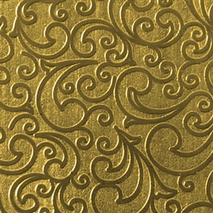 Textured Metal - Whirlwind Small - Brass 22 gauge
