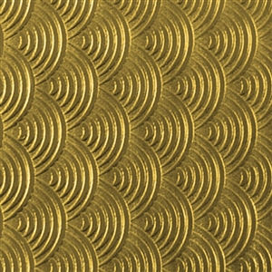 Textured Metal - Over the Rainbow Small - Brass 22 gauge