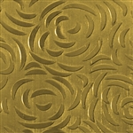 Textured Metal - Bed of Roses - Brass 22 gauge