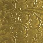 Textured Metal - Fancy Flourish - Brass 22 gauge