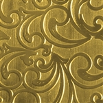 Textured Metal - Whirlwind - Brass 22 gauge