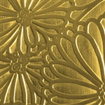 Textured Metal - Spontaneous Bloom - Brass 22 gauge
