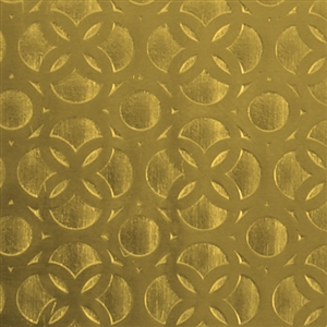 Textured Metal - Confessional Wall - Brass 22 gauge