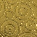 Textured Metal - Bubble Trouble - Brass 22 gauge