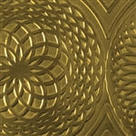Textured Metal - Mandala - Brass 22 gauge