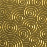 Textured Metal - Curly Swirly - Brass 22 gauge