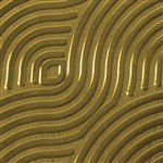 Textured Metal - Groovy - Brass 22 gauge