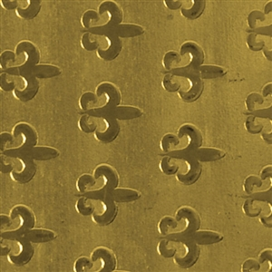 Textured Metal - Fleur de Lis Parade - Brass 22 gauge