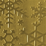 Textured Metal - Snow Day - Brass 22 gauge