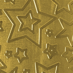 Textured Metal - Star Struck - Brass 22 gauge