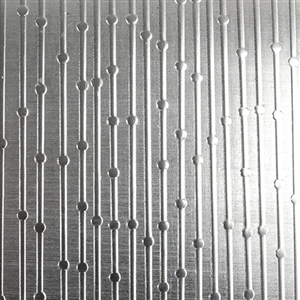 Textured Metal - Beaded Curtain - Fine Silver