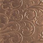 Textured Metal - Fancy Flourish - Bronze 22 gauge