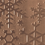 Textured Metal - Snow Day - Bronze 22 gauge