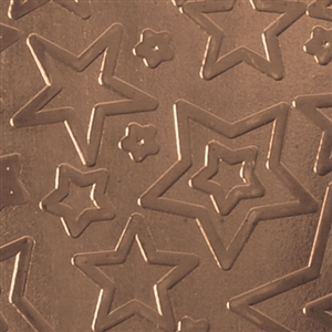 Textured Metal - Star Struck - Bronze 22 gauge